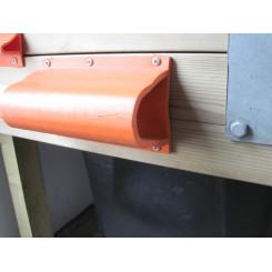 SF Fenderliste Kraftig 2,0m orange/hvid